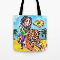 Charmed Tiger Tote Bag