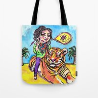 Charmed Tiger Tote Bag