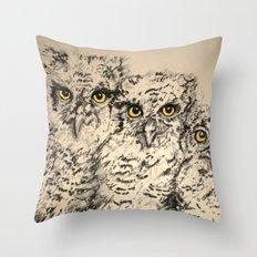 Owls 2.5 Throw Pillow