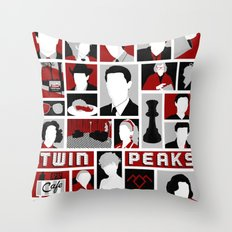 Twin Peaks Variant Throw Pillow