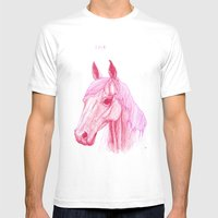 Year Of The Horse Mens Fitted Tee White SMALL