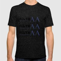 bracketed Mens Fitted Tee Tri-Black SMALL