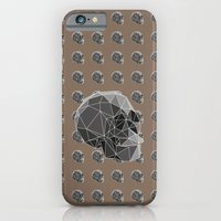iPhone & iPod Case featuring Geometric skulls by TOXIC RETRO
