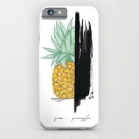 iPhone Cases featuring Pineapple / Piña by Sharito Lopez by Sharito Lopez