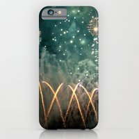 iPhone & iPod Case featuring Fireworks Face by The Last Sparrow