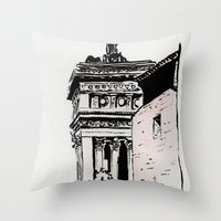 The lovers of the Capitoline Hill - Rome Throw Pillow
