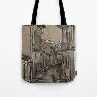 Old Village Alley Tote Bag