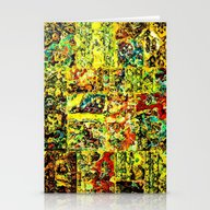 Abstract In Yellow  Stationery Cards