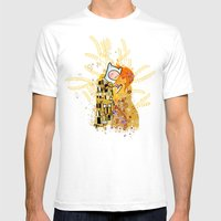 Dat Kiss Mens Fitted Tee White SMALL