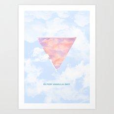 V is for Vanilla Sky Art Print