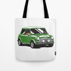 Mini Cooper Car - British Racing Green Tote Bag