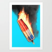 Bomb Pop Combustion Art Print