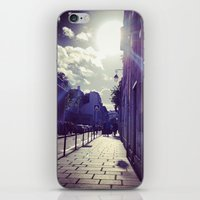Ray of Sunshine on the Streets of Paris iPhone & iPod Skin