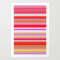 Color Stripes 1 Art Print
