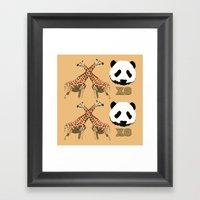 XOXO Wild Animals Framed Art Print