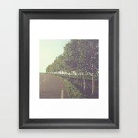 Roadside Trees Framed Art Print
