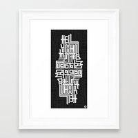 Hell yeah! Framed Art Print