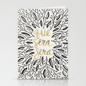 Whatever Will Be, Will Be – Black & Gold Stationery Cards