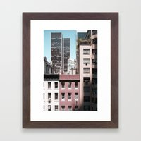 view of NYC from a MoMa window... Framed Art Print