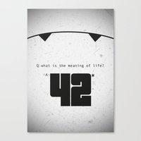 The Hitchhiker's Guide T… Canvas Print