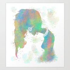 Pastel Silhouette Art Print