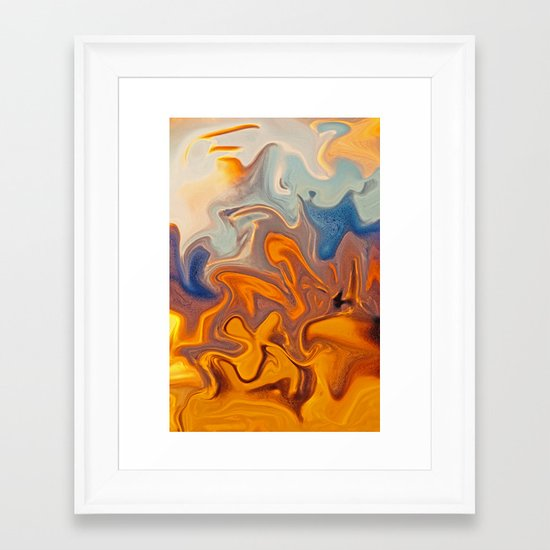 SKY ON FIRE Framed Art Print