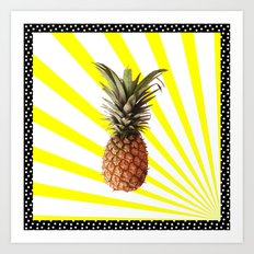 Ananas pop Art Print