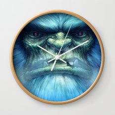 Abominable Snowman Wall Clock