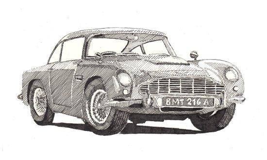 Aston Martin DB5 Art Print