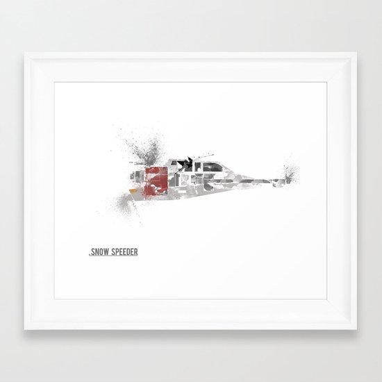 Star Wars Vehicle Snow Speeder Framed Art Print