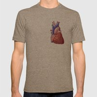 Vector Heart Mens Fitted Tee Tri-Coffee SMALL