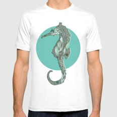 Seahorse SMALL White Mens Fitted Tee