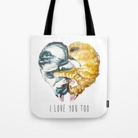 Cats Love . Valentine's Day Tote Bag