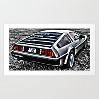 Where We're Going, We Don't Need Roads! Art Print