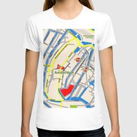 Amsterdam Map design Womens Fitted Tee White SMALL