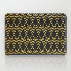 Art Deco Diamond Teardop - Black & Gold iPad Case