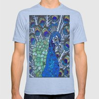 Small Peacock Mens Fitted Tee Athletic Blue SMALL