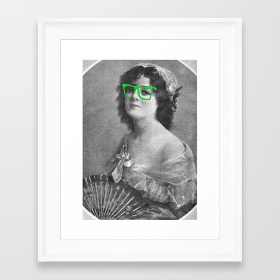Josephine is a Hipster Framed Art Print