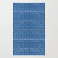 TARDIS Blueprint Pattern… Rug