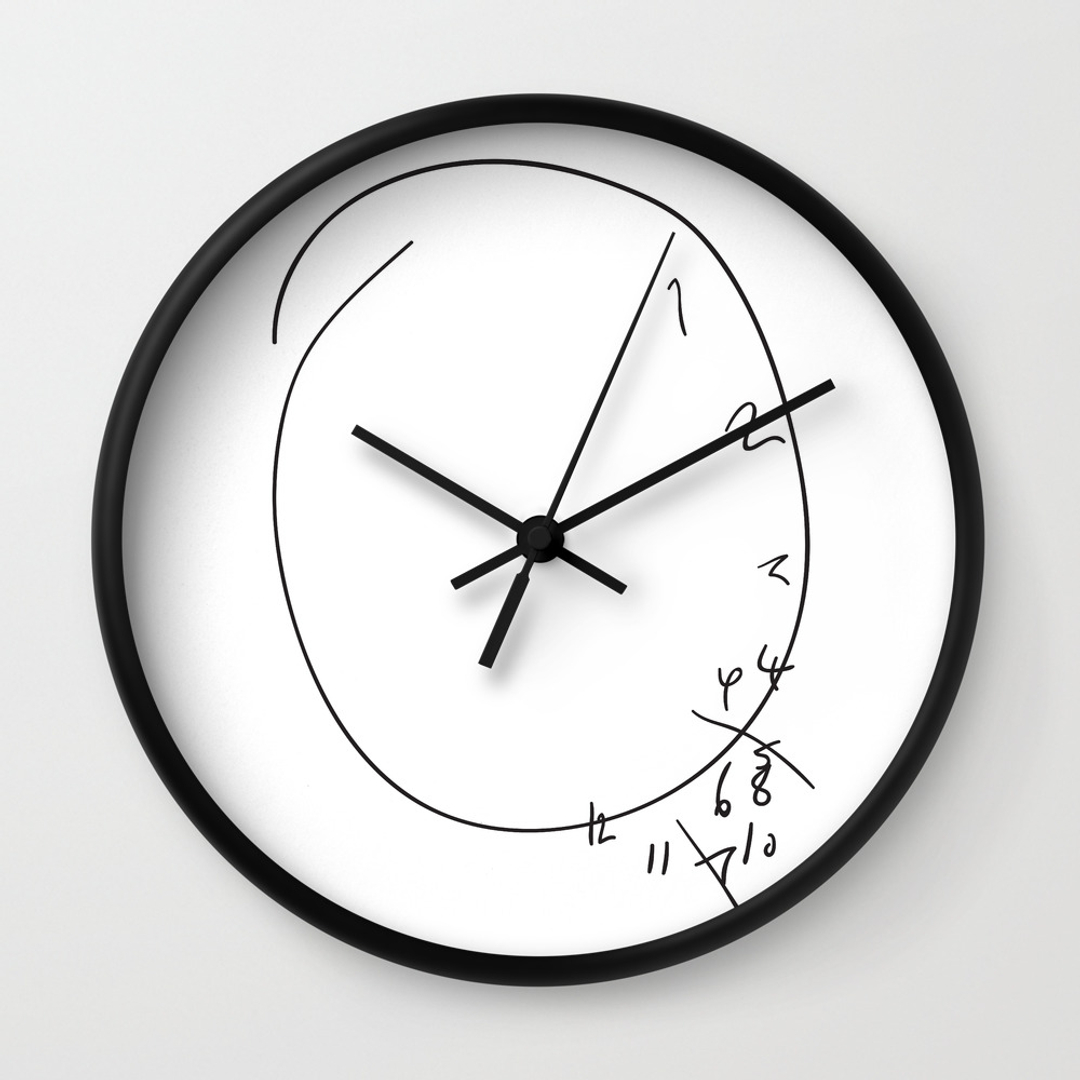 Popular Wall Clocks In Black White Society6