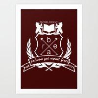 Academic Crest Art Print