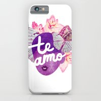 iPhone & iPod Case featuring Te Amo Typography Silhouette by The Pairabirds
