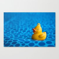 Small Plastic Duck On A … Canvas Print