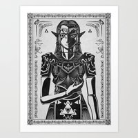Legend of Zelda Princess Zelda Geek Art Portrait Art Print