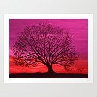 Sunset/ Warmer Colors  Art Print
