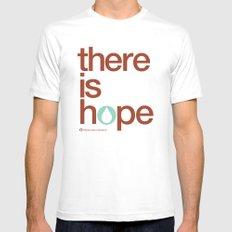 there is hope - blood:water mission  White Mens Fitted Tee SMALL