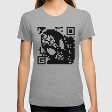 QR- Spiderman Womens Fitted Tee Athletic Grey SMALL