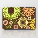 Folk flowers and leaves in brown iPad Case