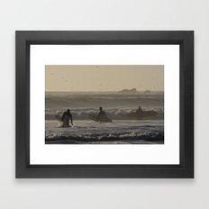 Three Friends Framed Art Print