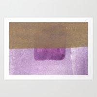 Purple Blue To Purple Art Print
